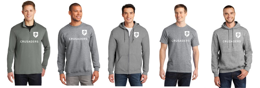 Image of T-Shirt($15) Crew Neck ($25-$27) Hoodie ($30-$32) & Zip Hoodie ($35-$37) 1/4 Zip Pullover ($29.95)