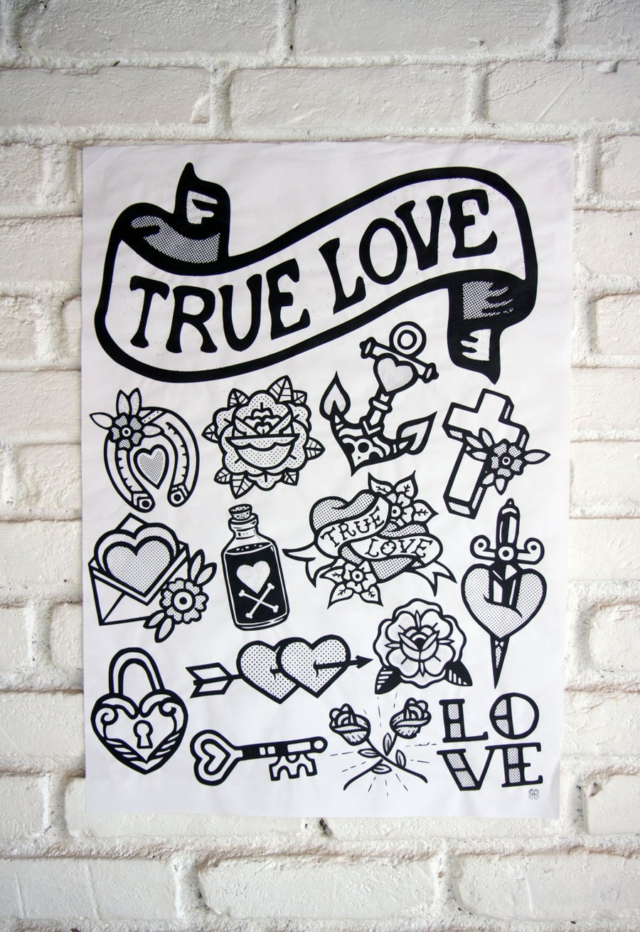 Image of KIT 4 Posters TRUE LOVE - 48x66cm