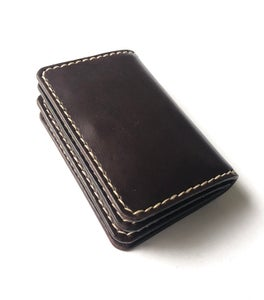 Image of Compact Wallet - Dark Brown
