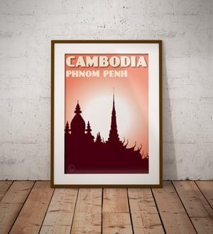 Image of Vintage poster Cambodia - Phnom Penh Coral - Fine Art Print