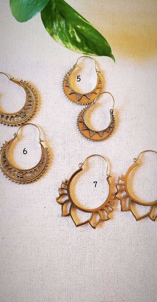 Image of •Brass Hoop Dangles
