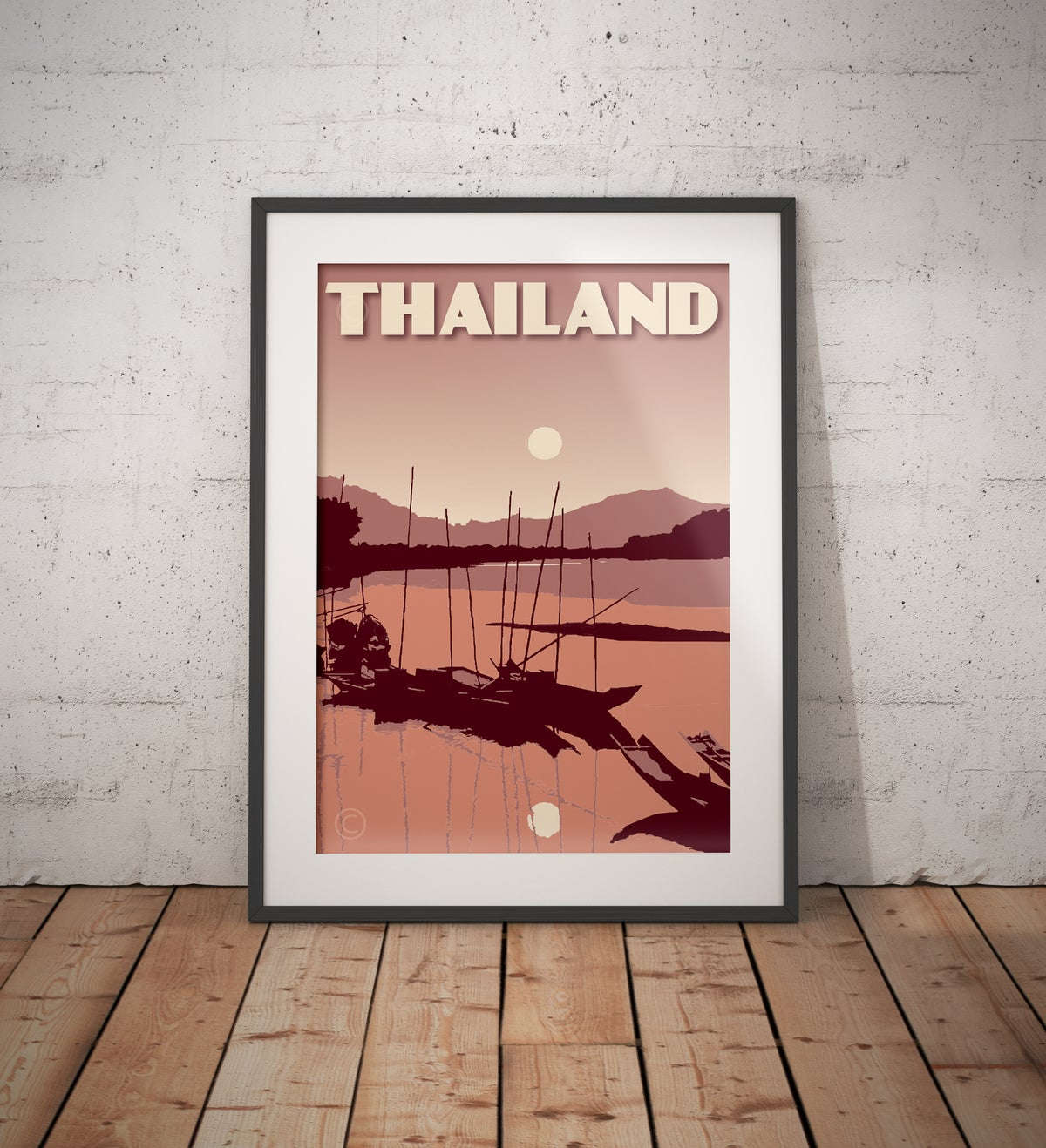 Image of Vintage poster Thailand - River Coral - Fine Art Print