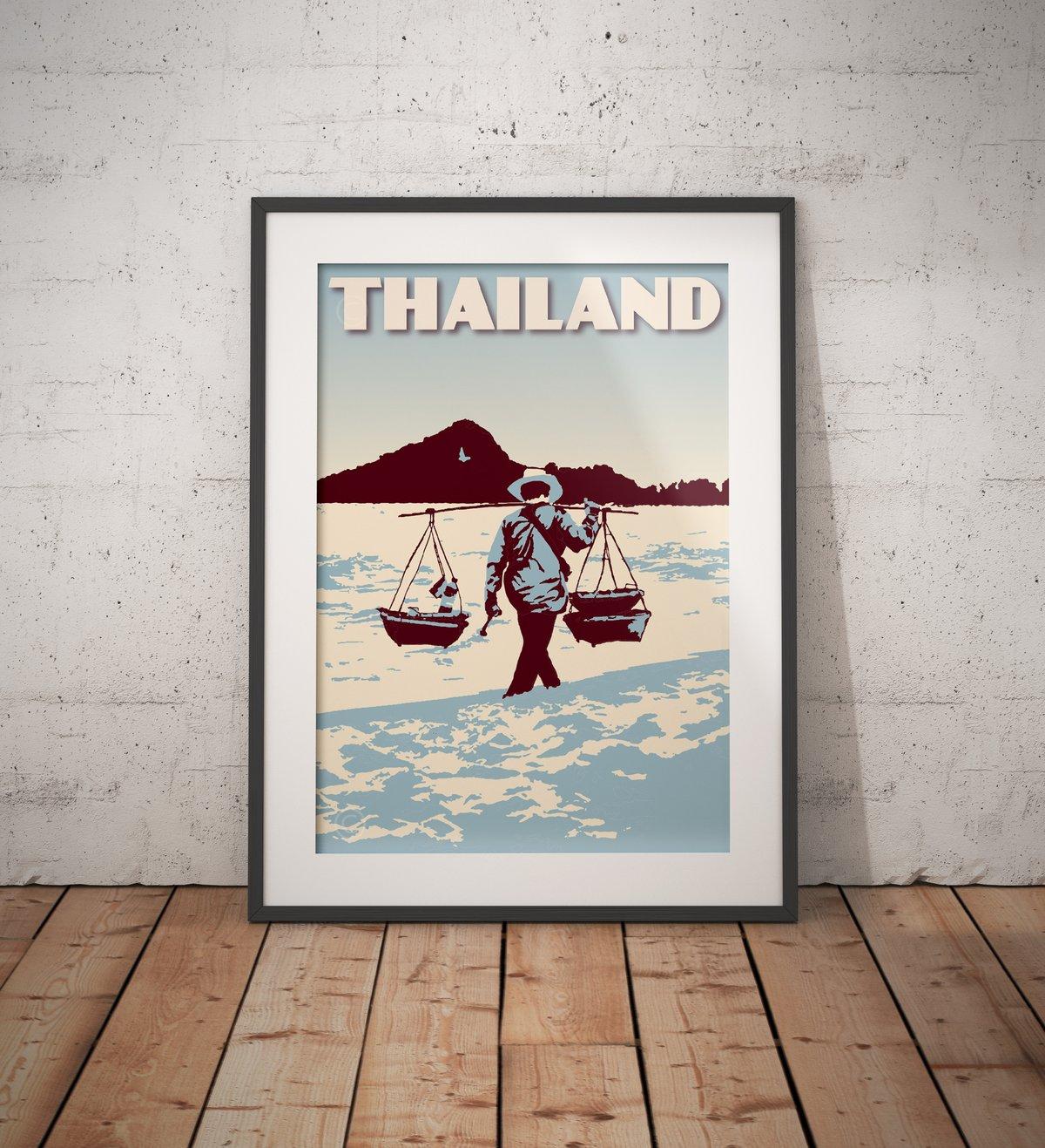 Image of Vintage poster Thailand - Hua Hin - Fine Art Print