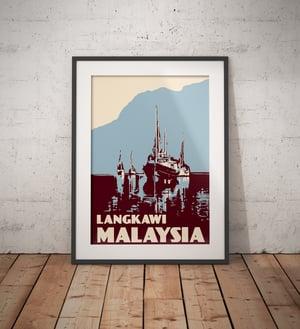 Image of Vintage poster Malaysia - Langkawi - Fine Art Print