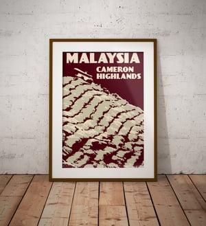 Image of Vintage poster Malaysia - Cameron Highlands - Fine Art Print