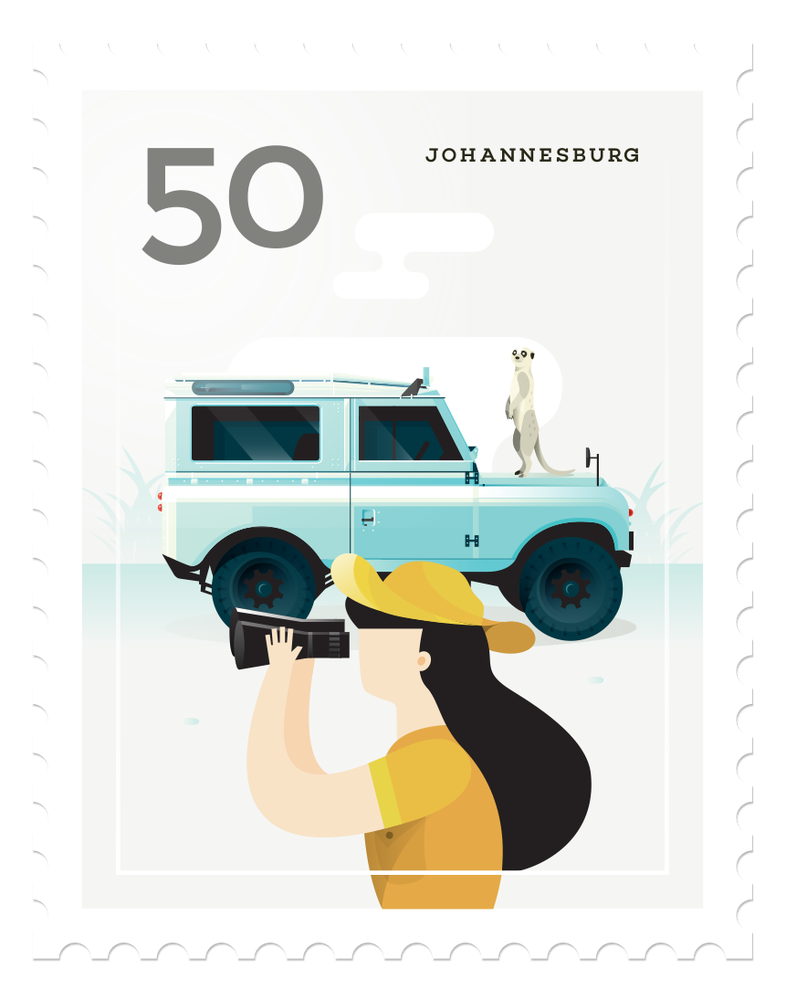 Image of Mini Art Print - Stamp : Johannesburg