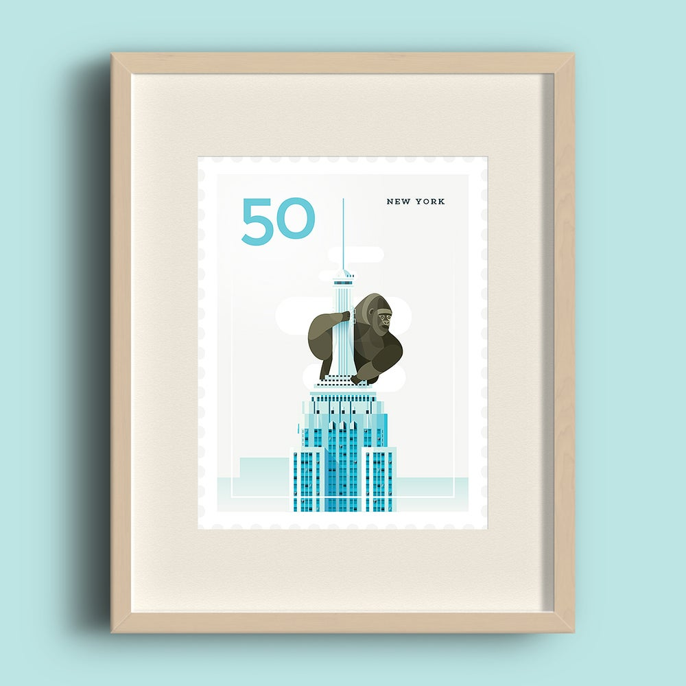 Image of Art Print - Stamp / New York