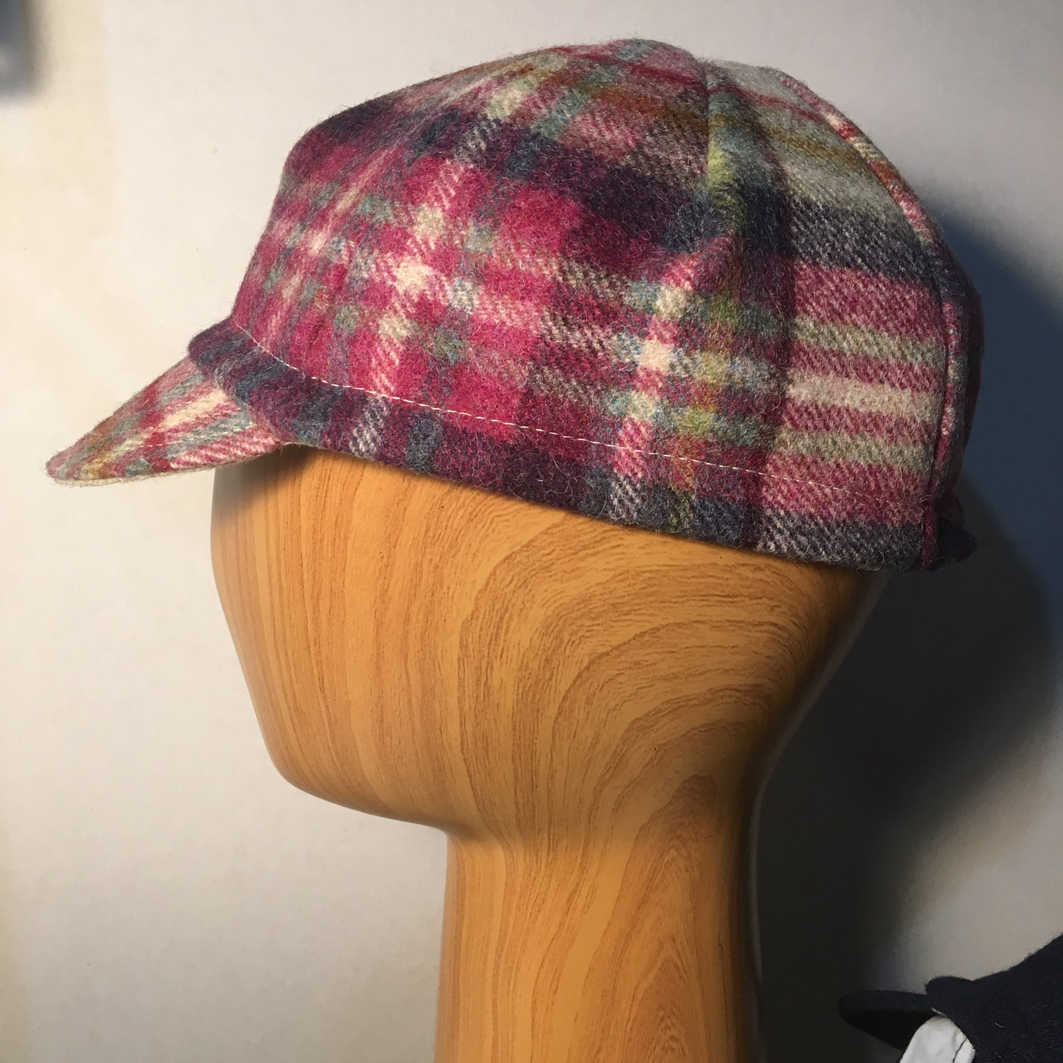 Image of Welsh tweed cycling cap