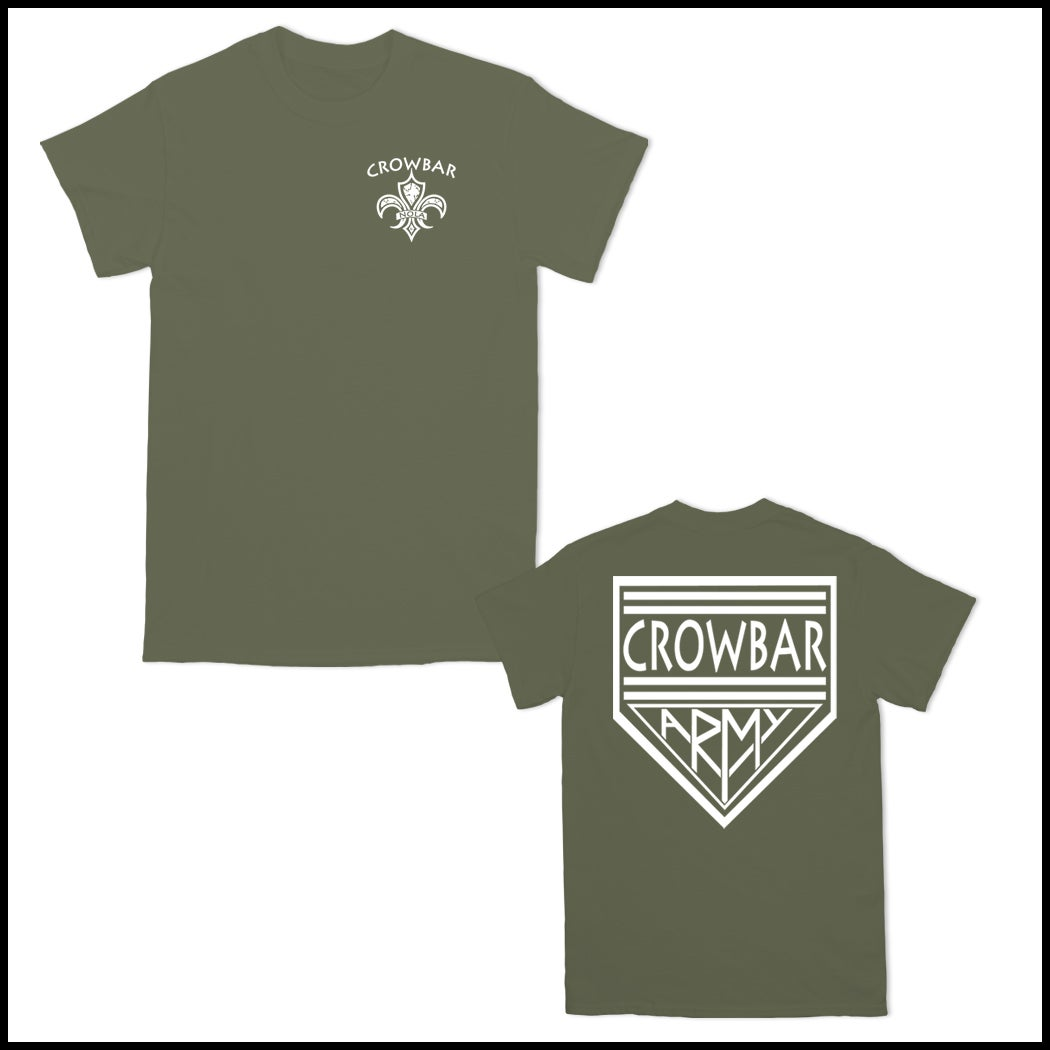 Image of CROWBAR ARMY CREST TEE