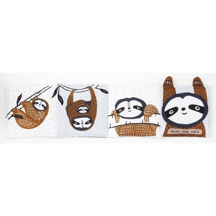 Image of Wee Gallery Sloth Soft Cloth Book