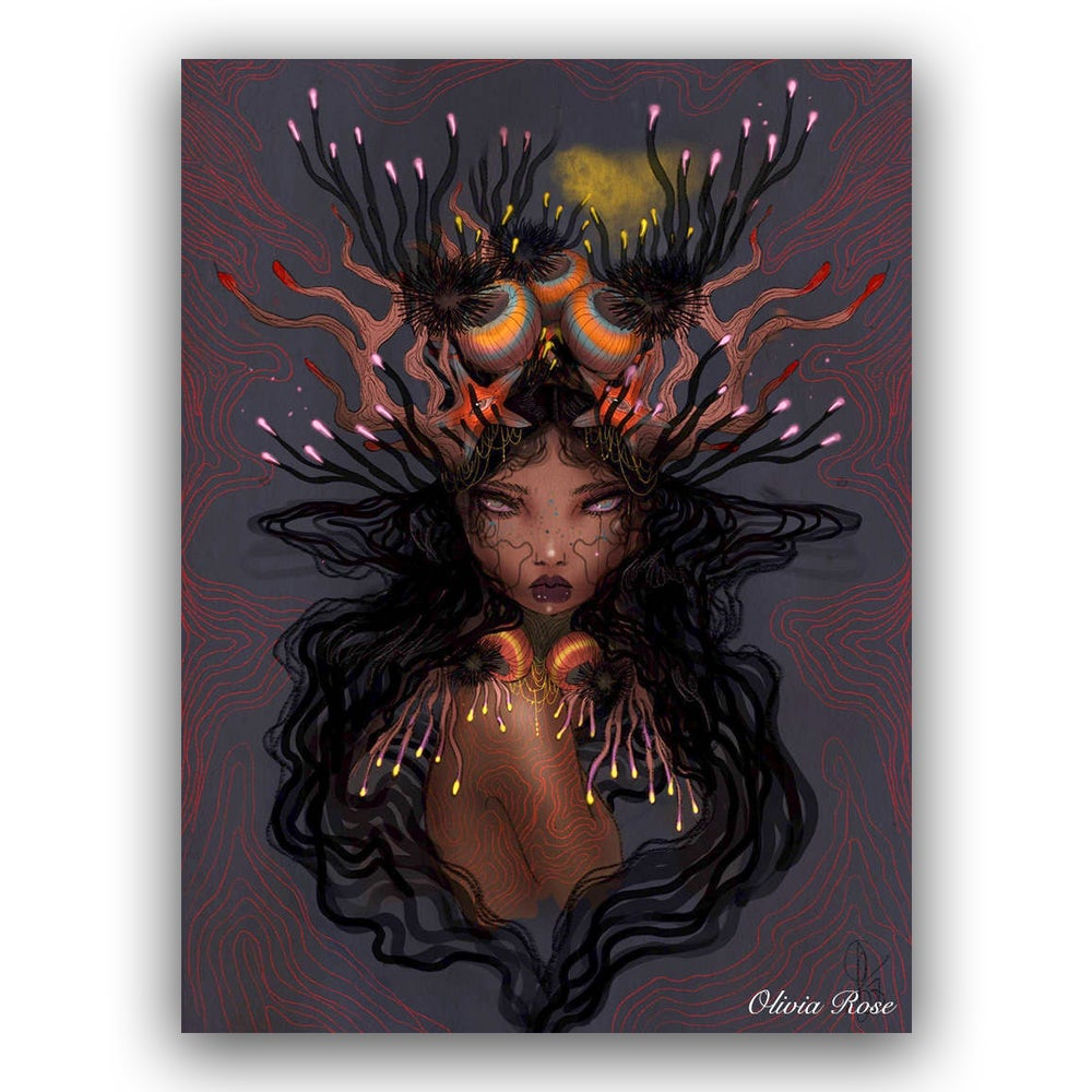 Image of Coral queen A4 print