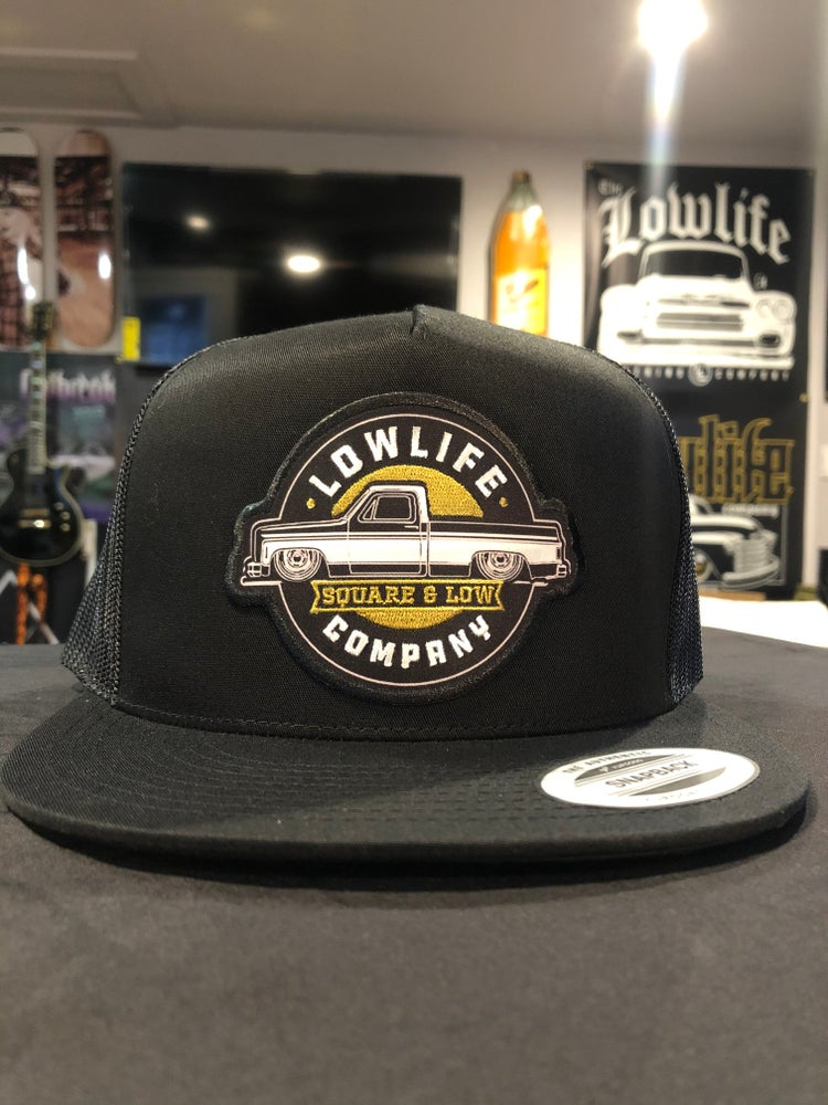 Image of Black Lowlife Square & Low Structured Trucker Hat