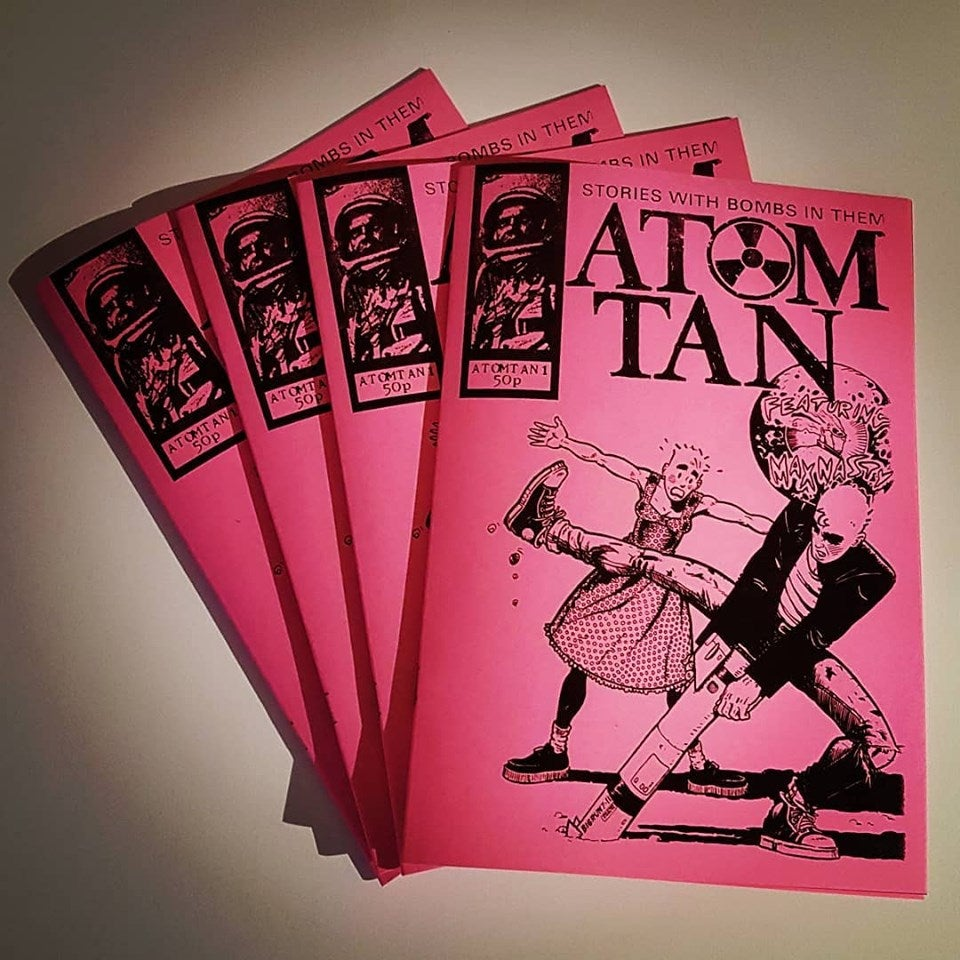 "Image of ATOM TAN ""NEON PINK"" EDITION (with poster and badge!)"
