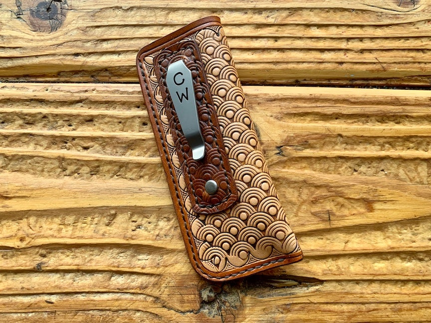 "Image of Custom Balisong Pocket Clip Slip - ""Floki"""