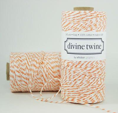 divine twine divine orange bakers twine