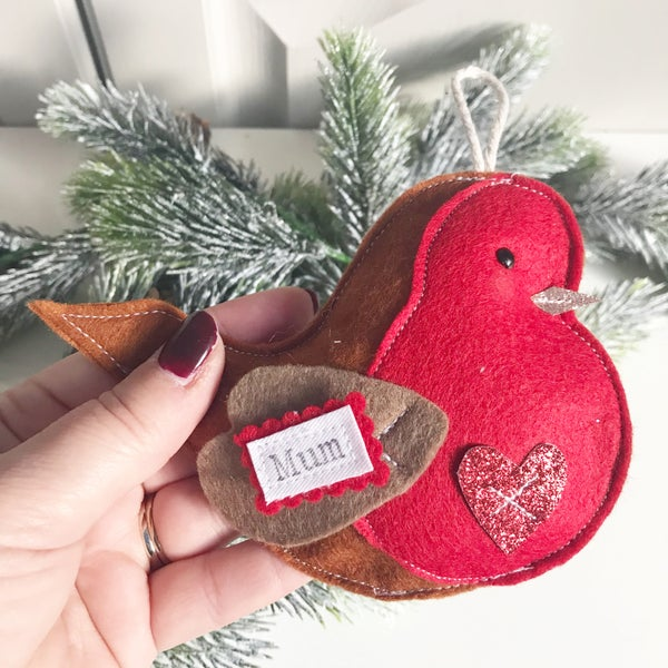 Image of Personalised robin decoration