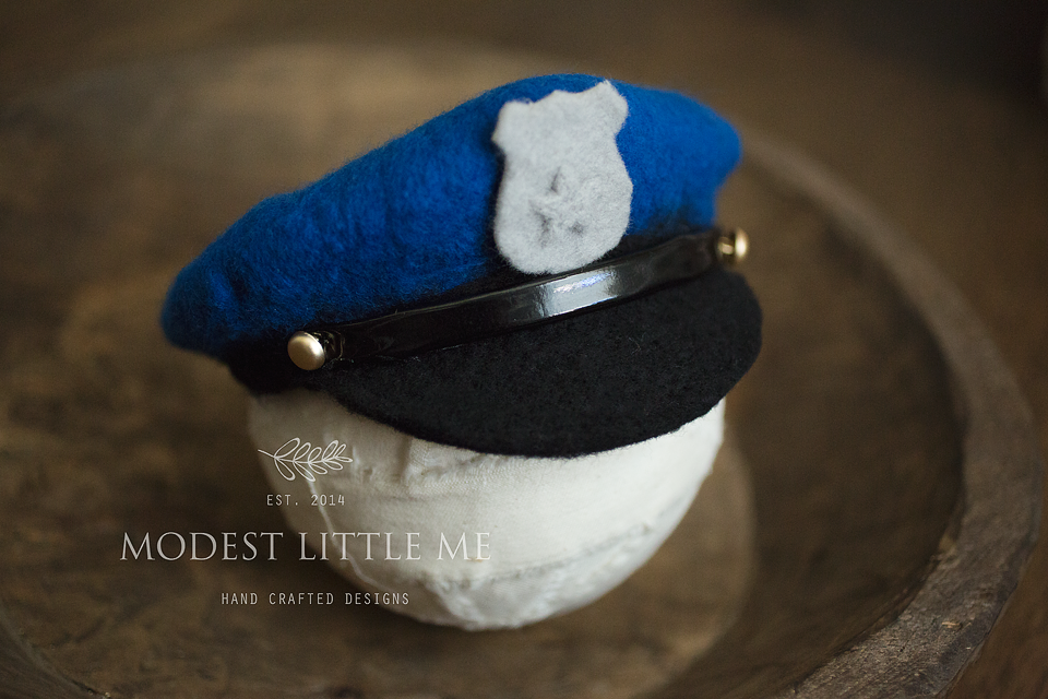 Image of Felted Police Officer Hat