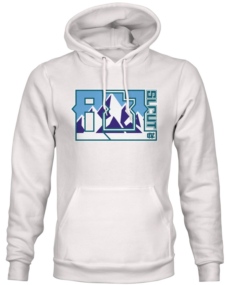Image of 801 block Throwback Hoodie