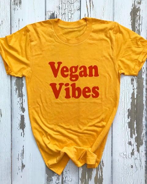 Image of Vegan vibes golden yellow tee