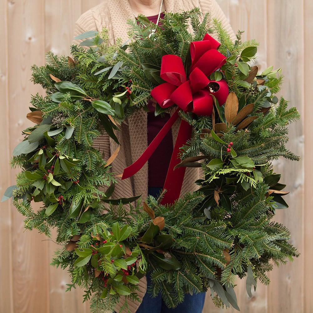 Image of Wild Flora Farm Winter Wreath Workshop Series