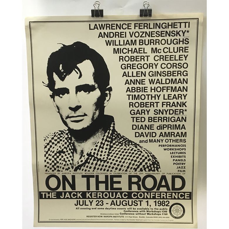 "Image of Allen Ginsberg - ""The Jack Kerouac Conference July 23 - August 1, 1982"" Poster"