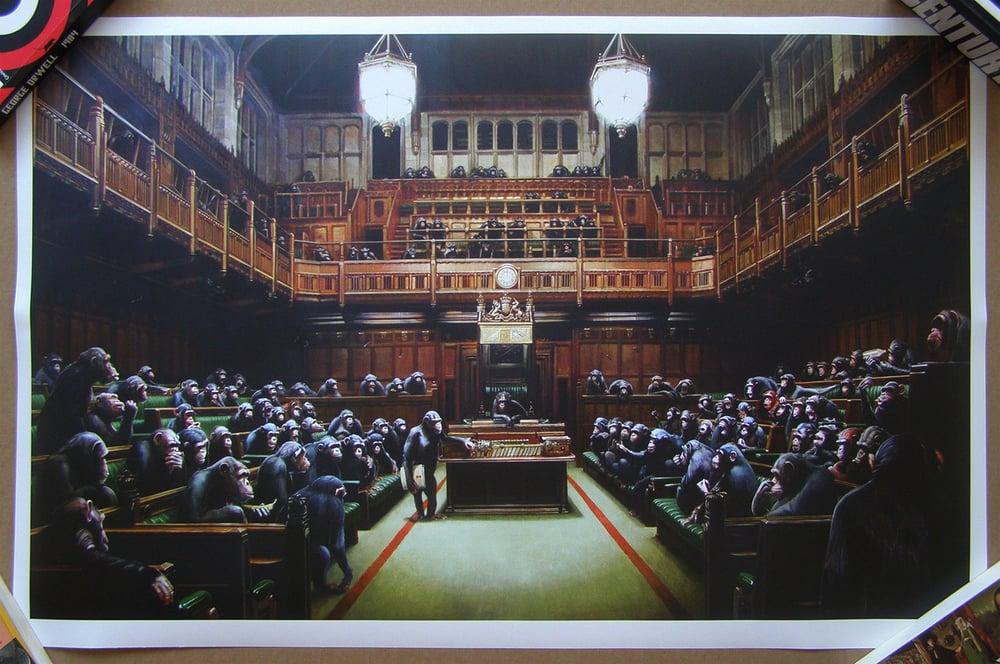 Image of Banksy - Monkey Parliament - £5495