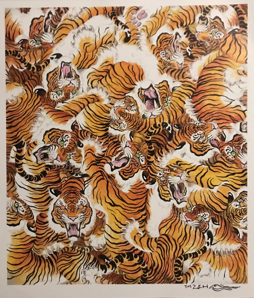 "Image of Tim Lehi ""Tiger War"" signed poster"