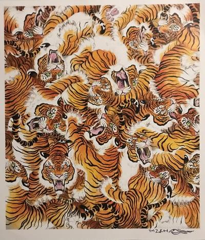 """Image of Tim Lehi """"Tiger War"""" signed poster"""