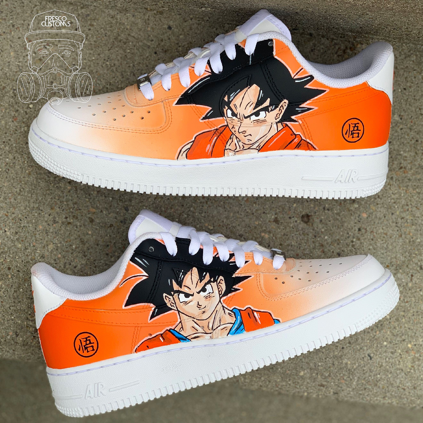 Goku Custom AF1s   Fresco Customs