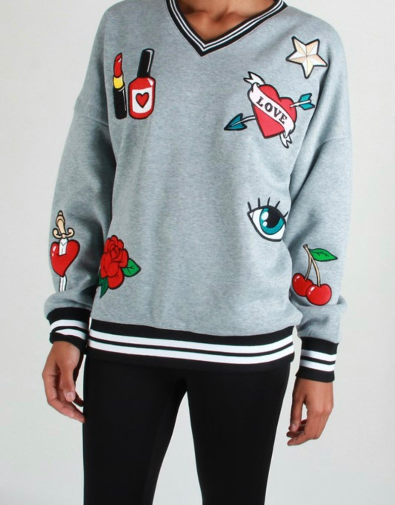 Image of Glam Patch Sweatshirt