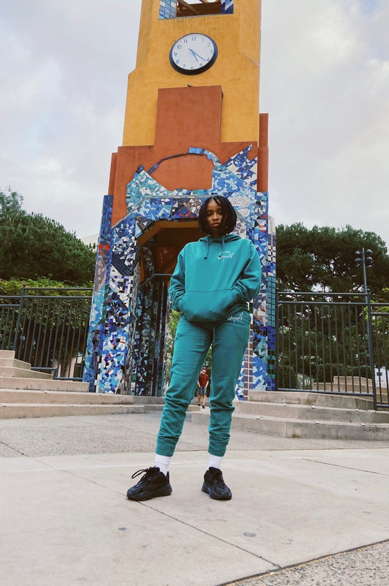 Image of Teal ILoveMyself Sweatsuit Pre-Order