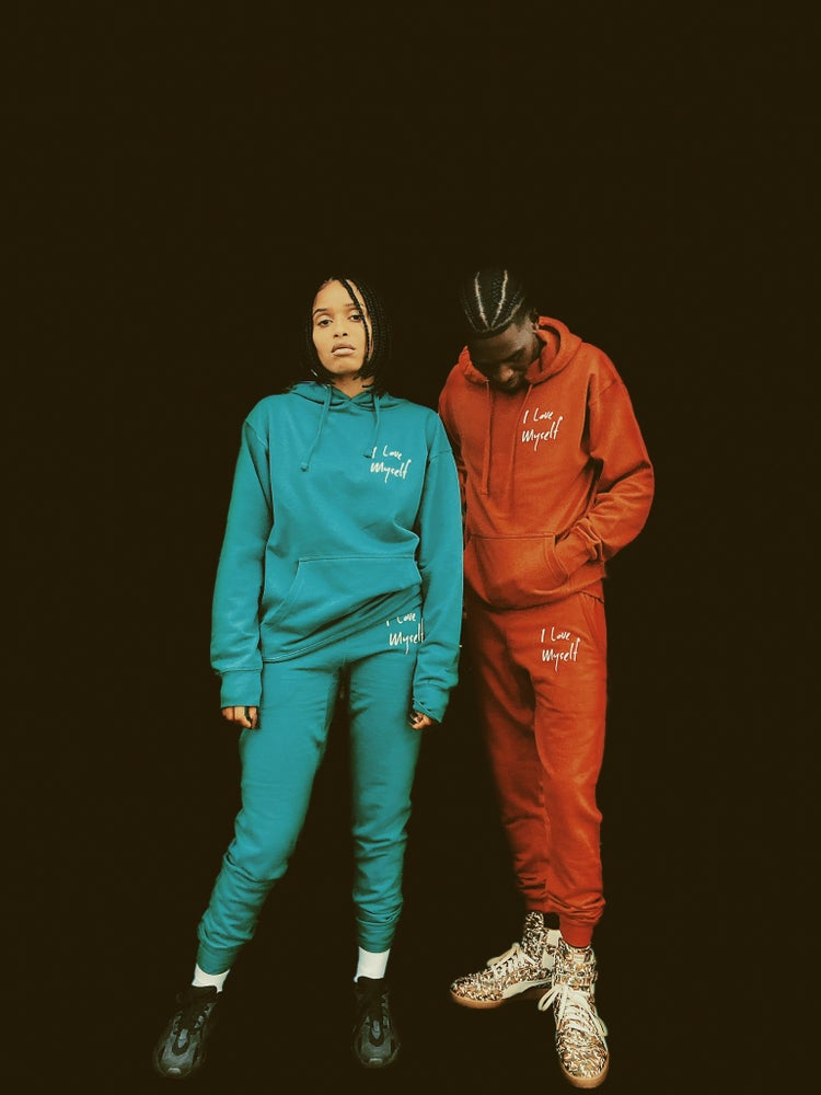 Image of Teal ILoveMyself Sweatsuit