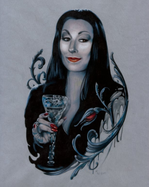 "Image of ""Morticia Addams"" Giclee Print"