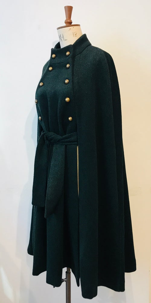 Image of Belted stalker cape green