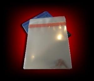Image of 50 Pochettes plastique polypropylène pour boitiers DVD 14mm [rabat adhésif]