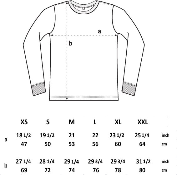 3 Skull Back Print Heavyweight Long-Sleeve Shirt (Organic)