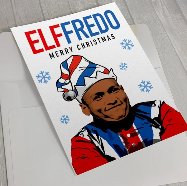 Image of Alfredo Morelos Christmas Card