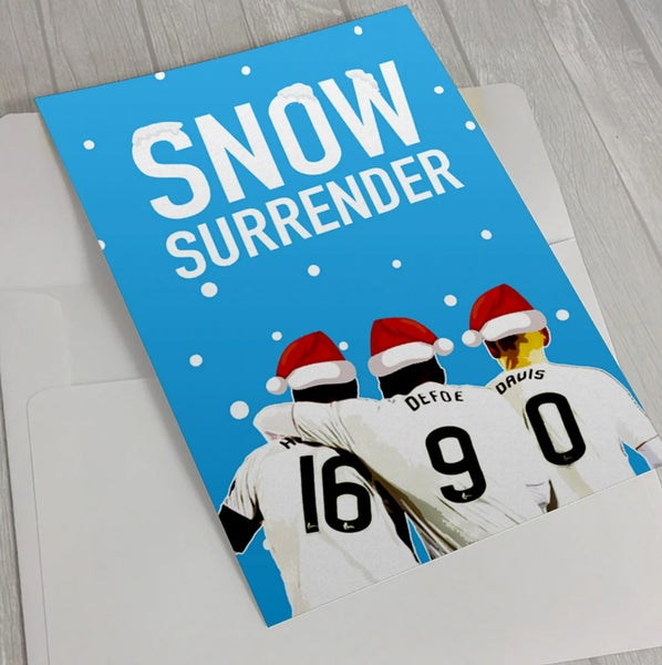 Image of Snow Surrender! Christmas Card for Rangers fans