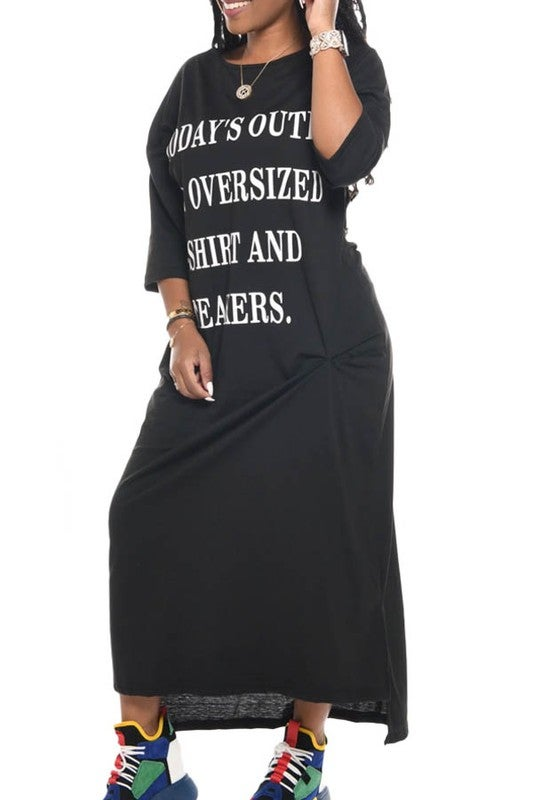 Image of Oversized T-Shirt and Sneakers Dress