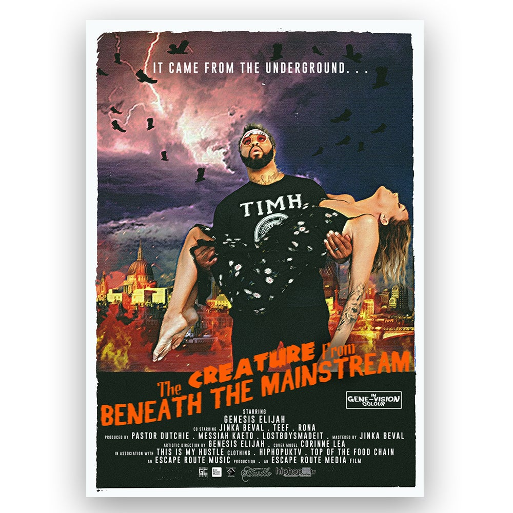 Image of The Creature From Beneath The Mainstream - Movie Style Poster