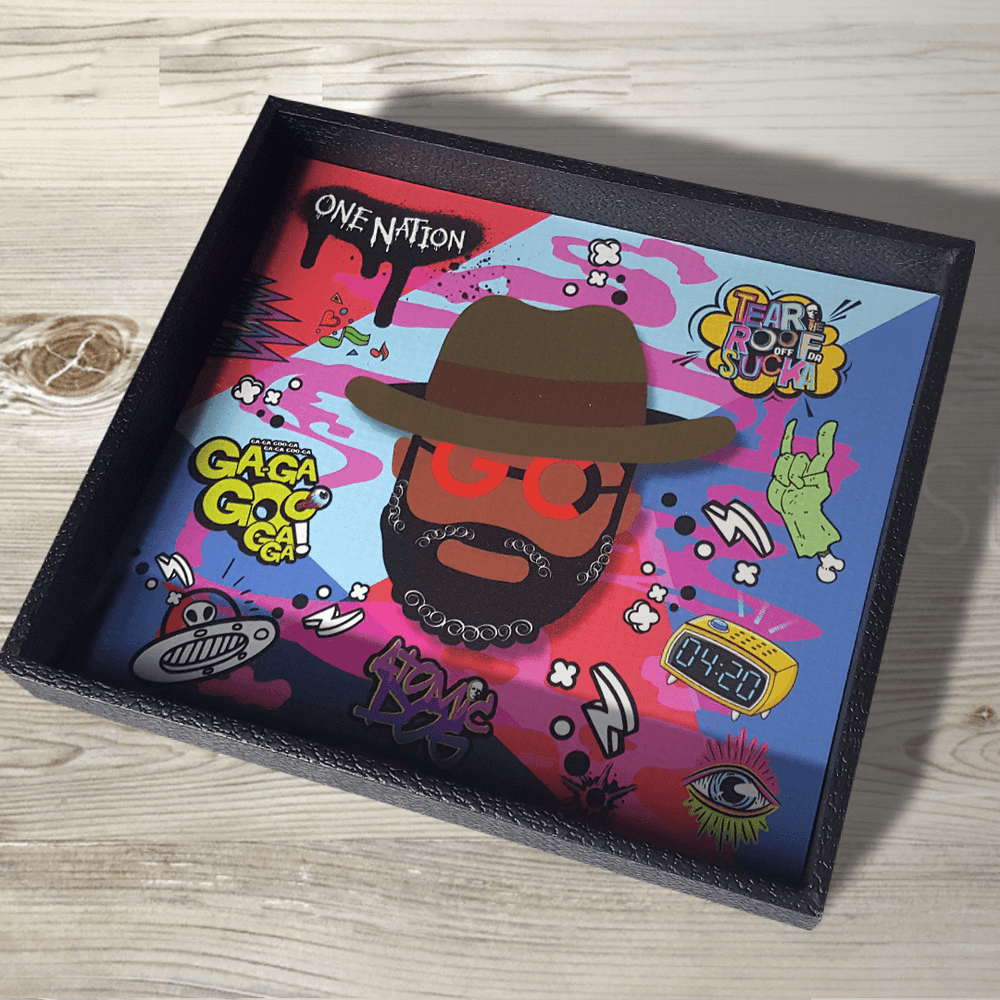 Image of  Desk/Valet/Rolling Tray Gift Set<br>GEORGE CLINTON OG