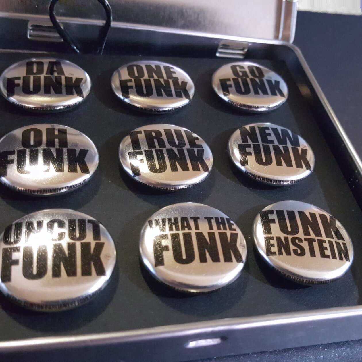 Image of Funk Series No. 2 - Chrome Buttons <br>White Case Gift Set