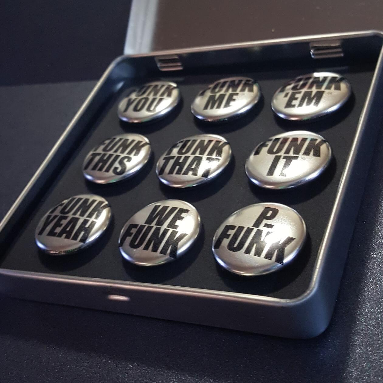 Image of Funk Series No. 1 - Chrome Buttons <br>Black Case Gift Set