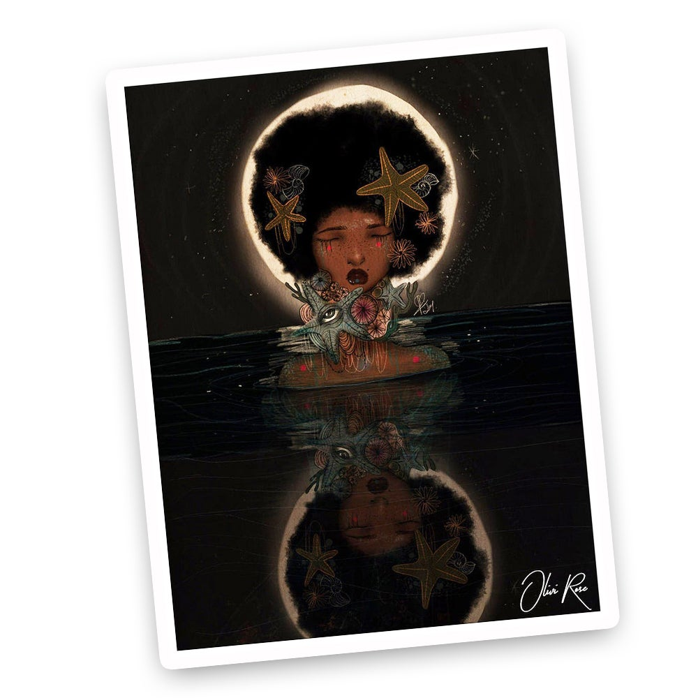 Image of Moon A4 print