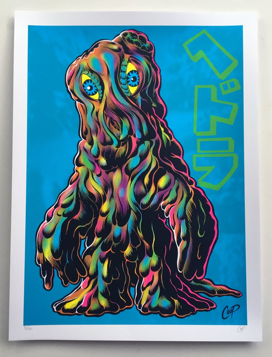 Image of SMOGGY silkscreen print (Blue Version)