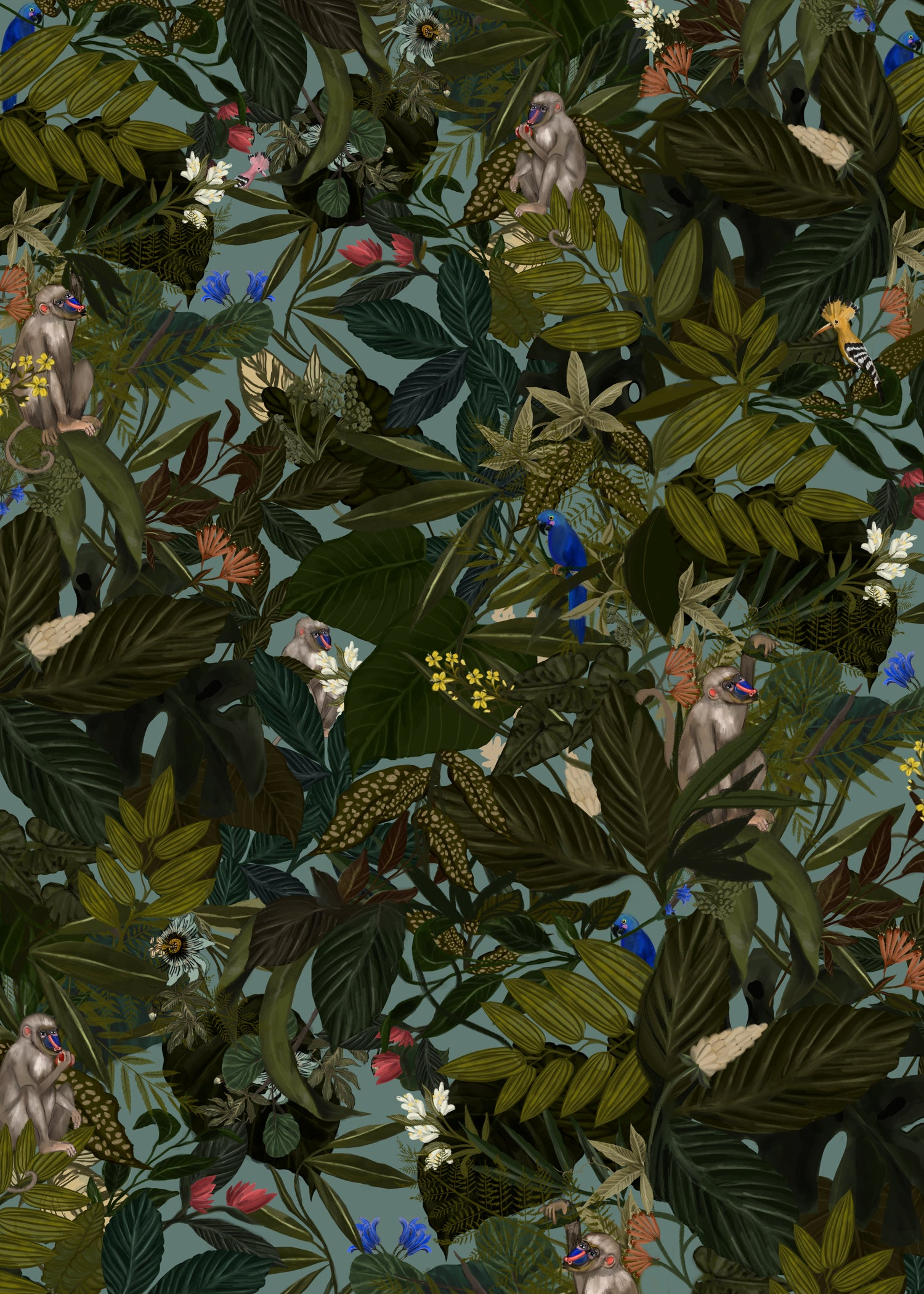 Image of WRAPPING PAPER JUNGLE