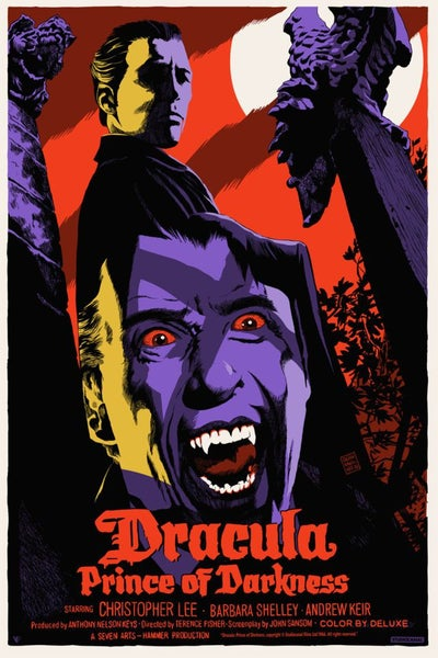 Image of Dracula Prince of Darkness Screen Print APs 24x36