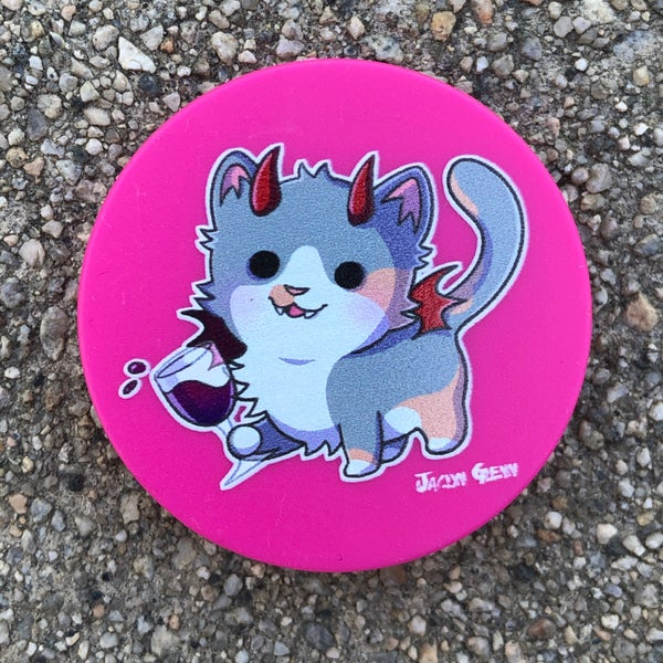 Image of WineKitty Popsocket (Pink or Black)