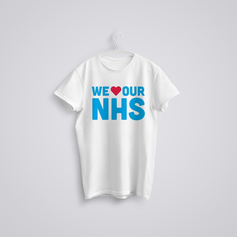 Image of We Love Our NHS General Election T-Shirt