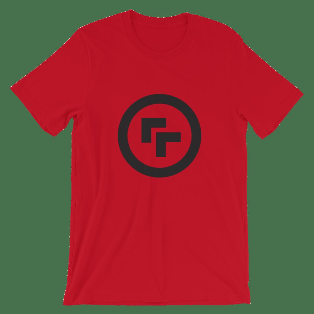 Image of Logo T-Shirt - Red with Black Logo  or Blue with Orange Logo